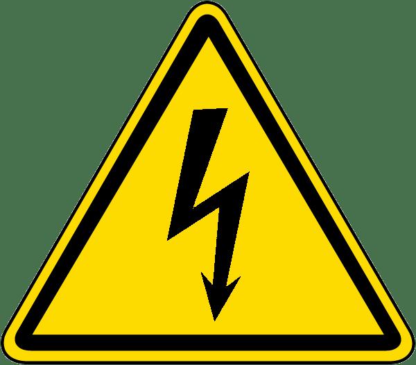 Signalisation d'un risque électrique