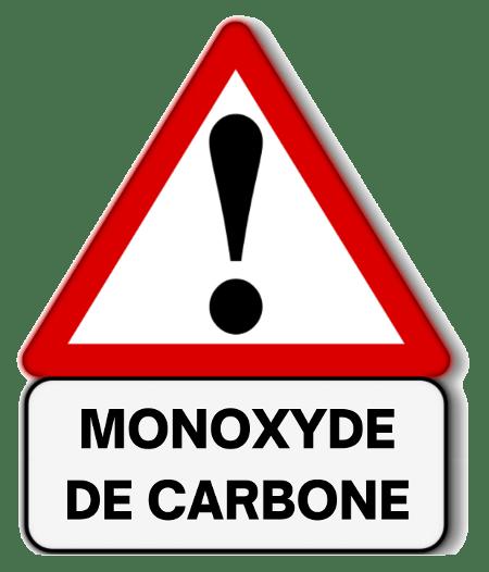 Signalisation d'un danger de monoxyde de carbone
