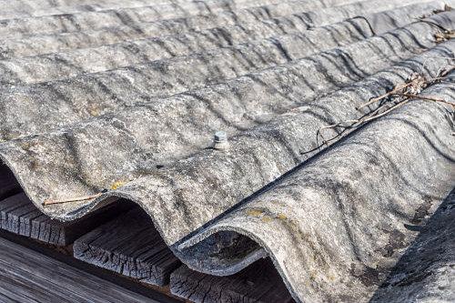 Plaques ondulées en amiante ciment